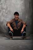 Young man on skate Royalty Free Stock Image