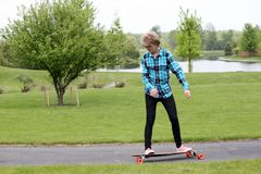 Young man on skateboard Royalty Free Stock Photography