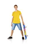Young man with skateboard Royalty Free Stock Photos