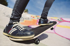 Young man skateboarding Stock Images