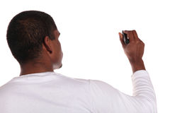 Young man sketching Stock Photography