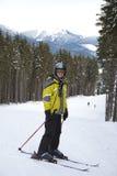 Young man skiing Royalty Free Stock Image