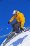 Young man skiing Stock Photo