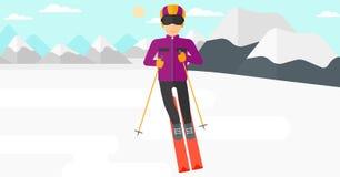 Young man skiing. Stock Photos