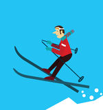 Young man skiing. Stock Images