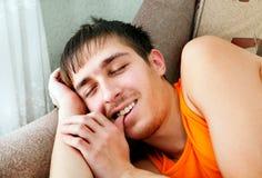 Young Man sleep Stock Photography
