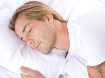 Young Man Sleeping Royalty Free Stock Photography
