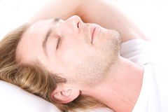 Young Man Sleeping Stock Photo