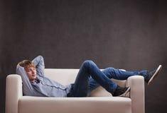 Young man sleeping Royalty Free Stock Image
