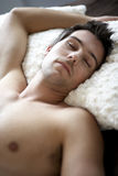 Young man sleeping Royalty Free Stock Photos
