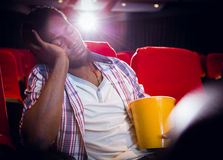 Young man sleeping in chair Royalty Free Stock Photo