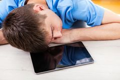 Young Man sleeping Stock Photography