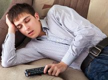 Young Man sleeping Royalty Free Stock Images