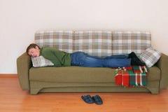 Young man sleeps Stock Photography