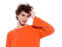 Young man sleepy portrait Stock Image