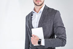 Young man with smart watch Stock Image