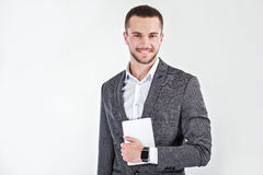 Young man with smart watch Royalty Free Stock Photo