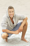 Young man smile Stock Images