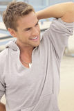 Young man smile royalty free stock images