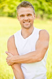 Young man smiles Royalty Free Stock Photos