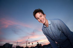 Young Man Smiles Royalty Free Stock Photography