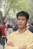 Young Man smiling looking at camera Stock Photo