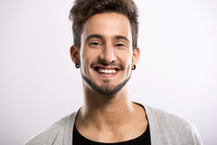 Young man smiling Stock Image