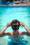 Young man in a snorkelling mask Stock Photo