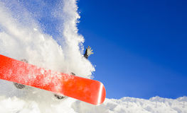 Young man on the snowboard Royalty Free Stock Photos