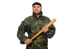 Young man in soldier uniform Stock Photo
