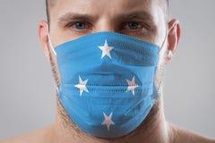 Man is afraid of getting the flu