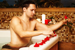 Young man in spa Stock Image