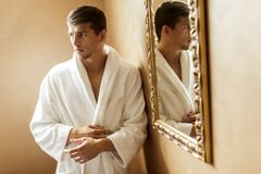 Young man in the spa Stock Image