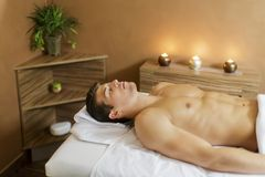 Young man in the spa Royalty Free Stock Photography