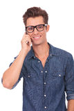 Young man speaking on the phone Stock Photography