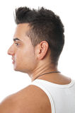 Young man with spiky hair royalty free stock photo