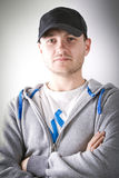 Young man in sport hat Royalty Free Stock Image