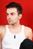 Young man in sportswear Stock Images