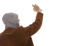Young man spraying paint Royalty Free Stock Image
