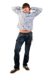 Young man standing. Royalty Free Stock Image