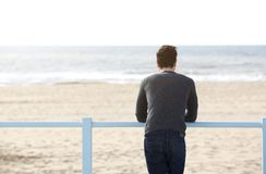 Young man standing alone Royalty Free Stock Photo