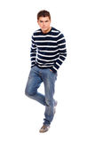 Young man standing firmly Royalty Free Stock Image