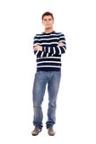Young man standing firmly Stock Photography