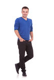 Young man standing with hands in pockets Royalty Free Stock Photos