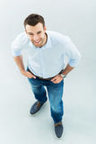 Young man standing Royalty Free Stock Image