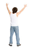 Young man standing with his hands Royalty Free Stock Photo