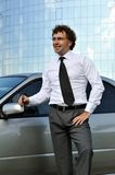 Young man standing near car Royalty Free Stock Photography