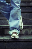 Young Man Standing On Steps Royalty Free Stock Image