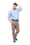 Young man standing Stock Images