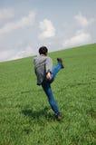 Young man start running  Royalty Free Stock Image
